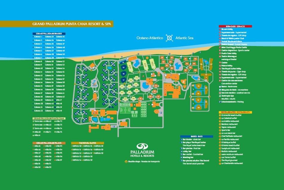 Grand Palladium Punta Cana Map Unofficial Palladium