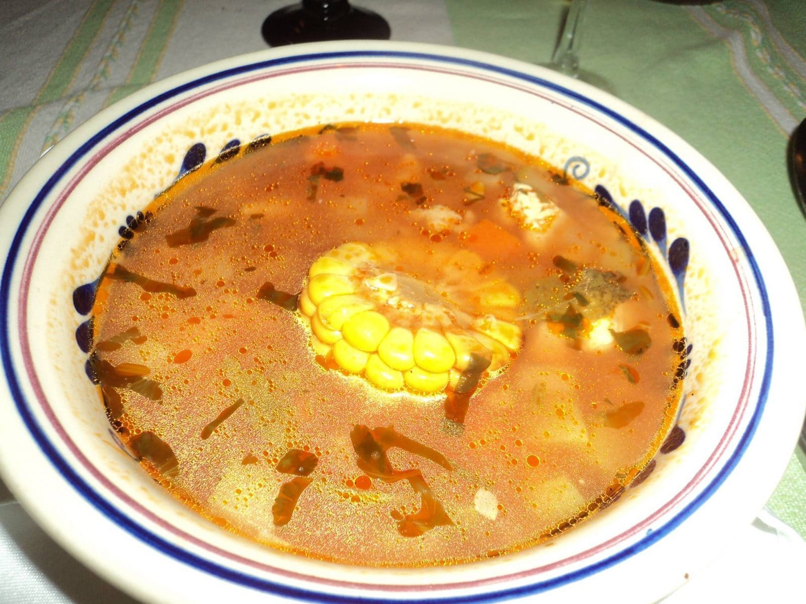 Beef soup in La Adelita