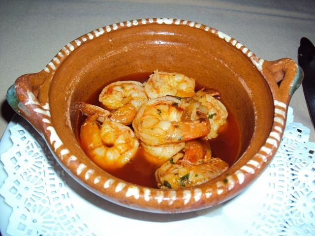 Garlic shrimp @ Punta Emilia