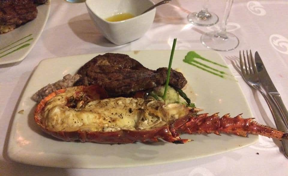 Steak and lobster El Jardin by by Vivian Backmann